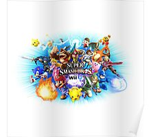 Smash Bros WII U QUEEN Size Duvet Cover-Other Sizes on my Page! (+Others!) Poster