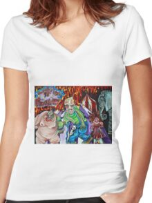 Freak Show - The Sinister Circus Women's Fitted V-Neck T-Shirt