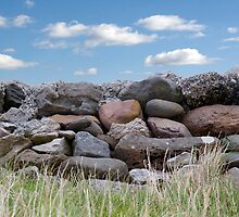 old stone wall in county Kerry Ireland by morrbyte