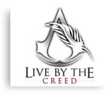 Live By The Creed Canvas Print