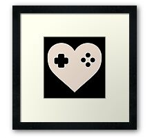 Gaming Heart XBOX Console PlayStation Framed Print