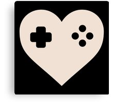 Gaming Heart XBOX Console PlayStation Canvas Print