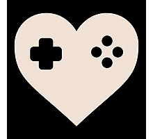 Gaming Heart XBOX Console PlayStation Photographic Print