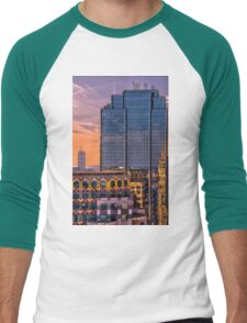 Boston skyscrapers Men's Baseball ¾ T-Shirt