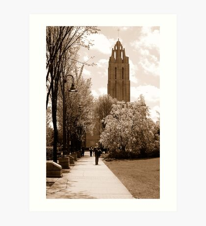 Near the Cathedral Art Print
