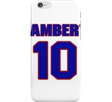 National Hockey player Denny Lambert jersey 10 iPhone Case/Skin