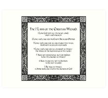 The Seven Laws of the Christian Wizard Art Print