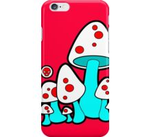 Aqua Mushrooms  iPhone Case/Skin