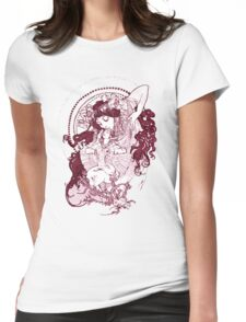 Vintage Mucha Art Womens Fitted T-Shirt