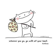 Wherever you go, go with all your heart. / Cat doodle by eyecreate