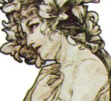 Vintage Moon Goddess Art Sticker