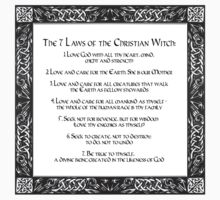 The Seven Laws of the Christian Witch Kids Tee
