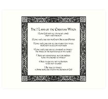 The Seven Laws of the Christian Witch Art Print