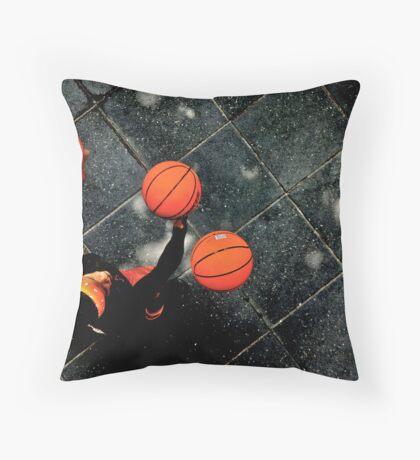 Basketball Man Throw Pillow