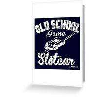 Oldschool game Slotcar white Greeting Card