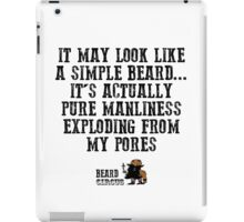 Pure Manliness iPad Case/Skin