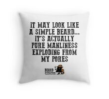 Pure Manliness Throw Pillow