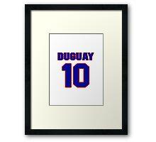 National Hockey player Ron Duguay jersey 10 Framed Print