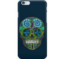 Winter skull, holly king- yellow iPhone Case/Skin
