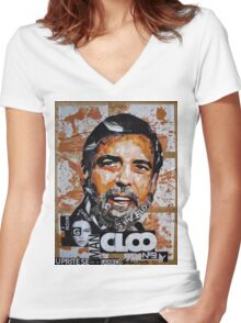 George Clooney Women's Fitted V-Neck T-Shirt