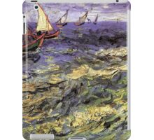 Seascape at Saintes-Maries by Vincent van Gogh. Landscape fine art oil painting. iPad Case/Skin
