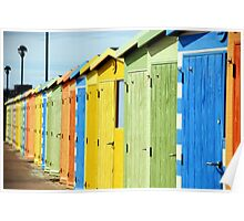 Seaside Beach Huts Poster