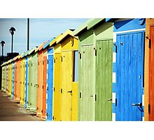 Seaside Beach Huts Photographic Print