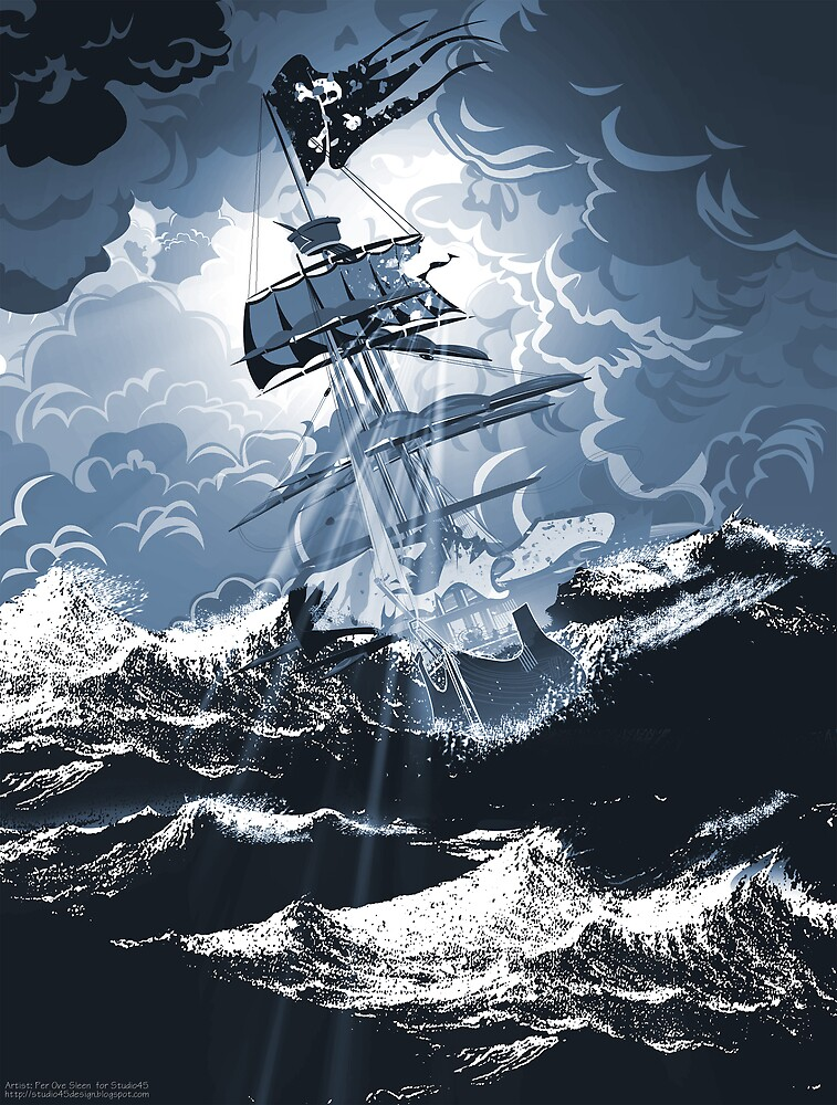 Pirates in storm by Per Ove Sleen