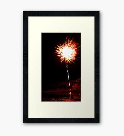 Carol's Fireworks @ Mount Barker 2 Framed Print