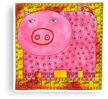 Patterned Pig Canvas Print