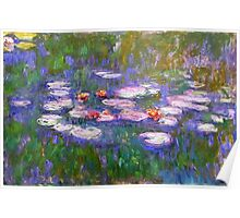 Claude Monet, Waterlilies, oil on canvas.  Poster