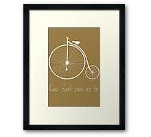 Dyke in white bike Framed Print