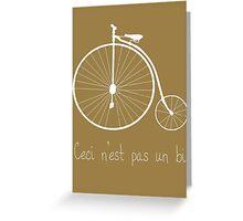 Dyke in white bike Greeting Card