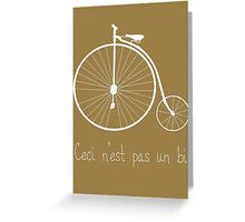 Dyke in white bike Greeting Card