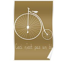 Dyke in white bike Poster