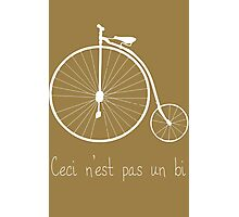 Dyke in white bike Photographic Print