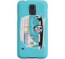 VW Splitty (Custom Blue) Camper Van Samsung Galaxy Case/Skin