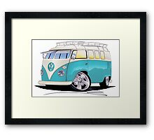 VW Splitty (Custom Blue) Camper Van Framed Print