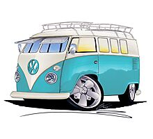 VW Splitty (Custom Blue) Camper Van Photographic Print