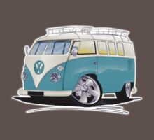 VW Splitty (Custom Blue) Camper Van Baby Tee