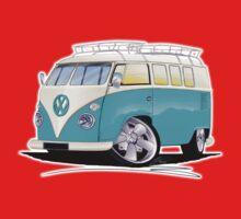 VW Splitty (Custom Blue) Camper Van Baby Tee