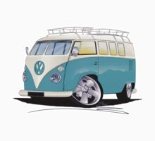 VW Splitty (Custom Blue) Camper Van Kids Tee