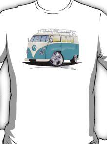 VW Splitty (Custom Blue) Camper Van T-Shirt
