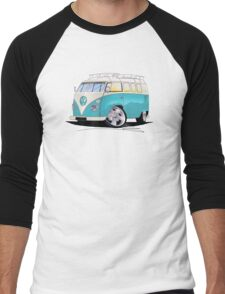 VW Splitty (Custom Blue) Camper Van Men's Baseball ¾ T-Shirt