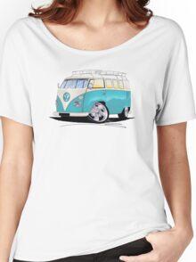 VW Splitty (Custom Blue) Camper Van Women's Relaxed Fit T-Shirt