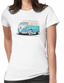 VW Splitty (Custom Blue) Camper Van Womens Fitted T-Shirt