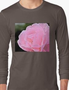 Dewy Pink Rose B Long Sleeve T-Shirt