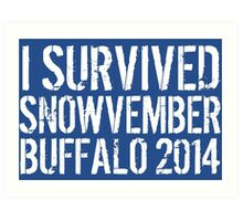 Awesome 'I survived Snowvember Buffalo 2014' Snowstorm T-Shirt and Accessories Art Print