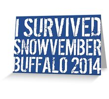 Awesome 'I survived Snowvember Buffalo 2014' Snowstorm T-Shirt and Accessories Greeting Card