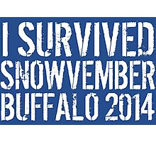 Awesome 'I survived Snowvember Buffalo 2014' Snowstorm T-Shirt and Accessories Photographic Print